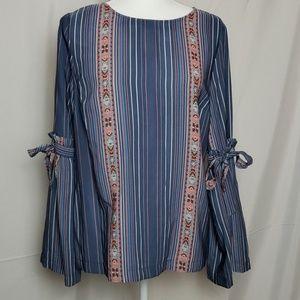 Lauren Conrad Ruffled Bell sleeve blouse